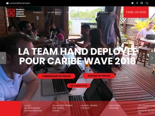 Hand, hackers against natural disaster
